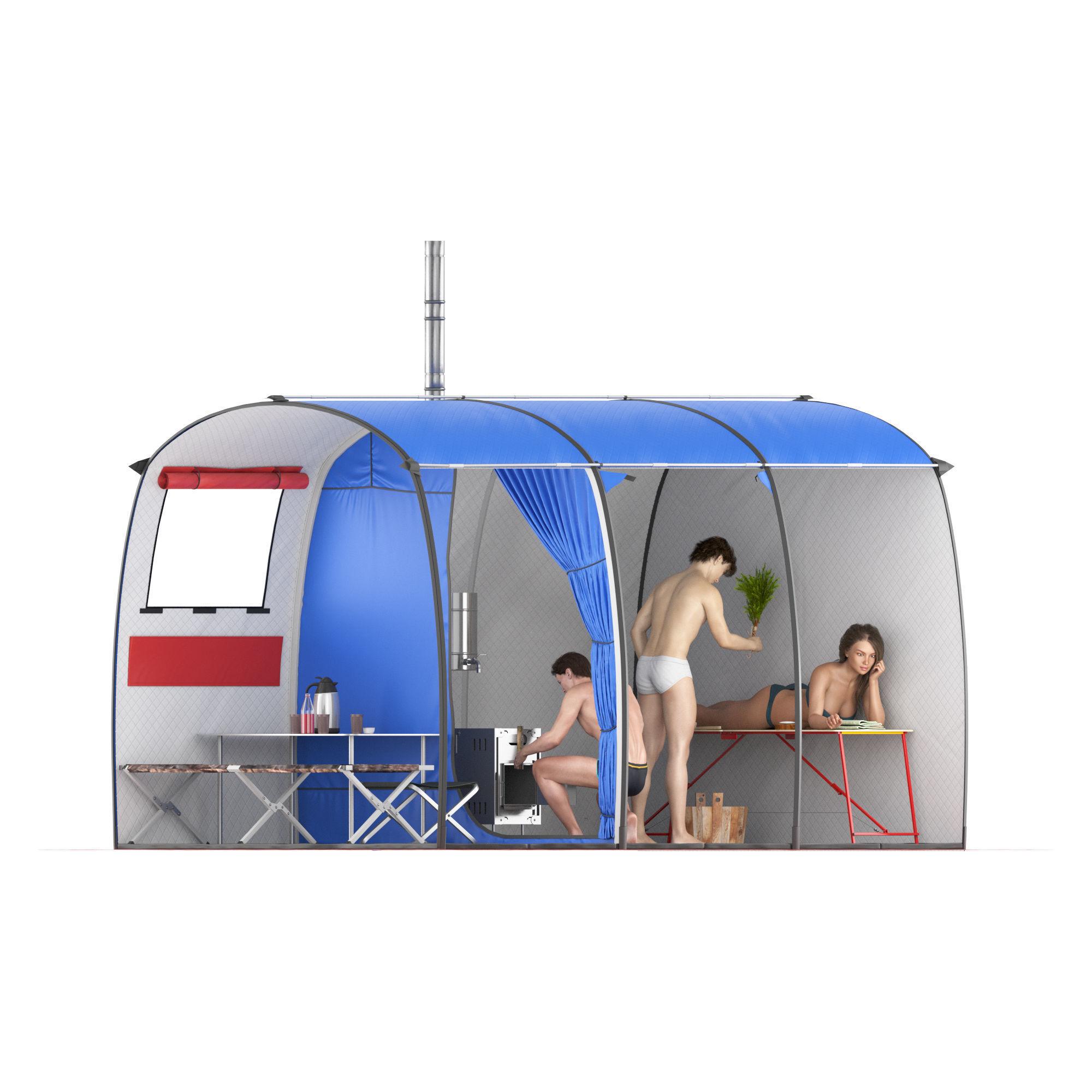 Tourist tent big - bath