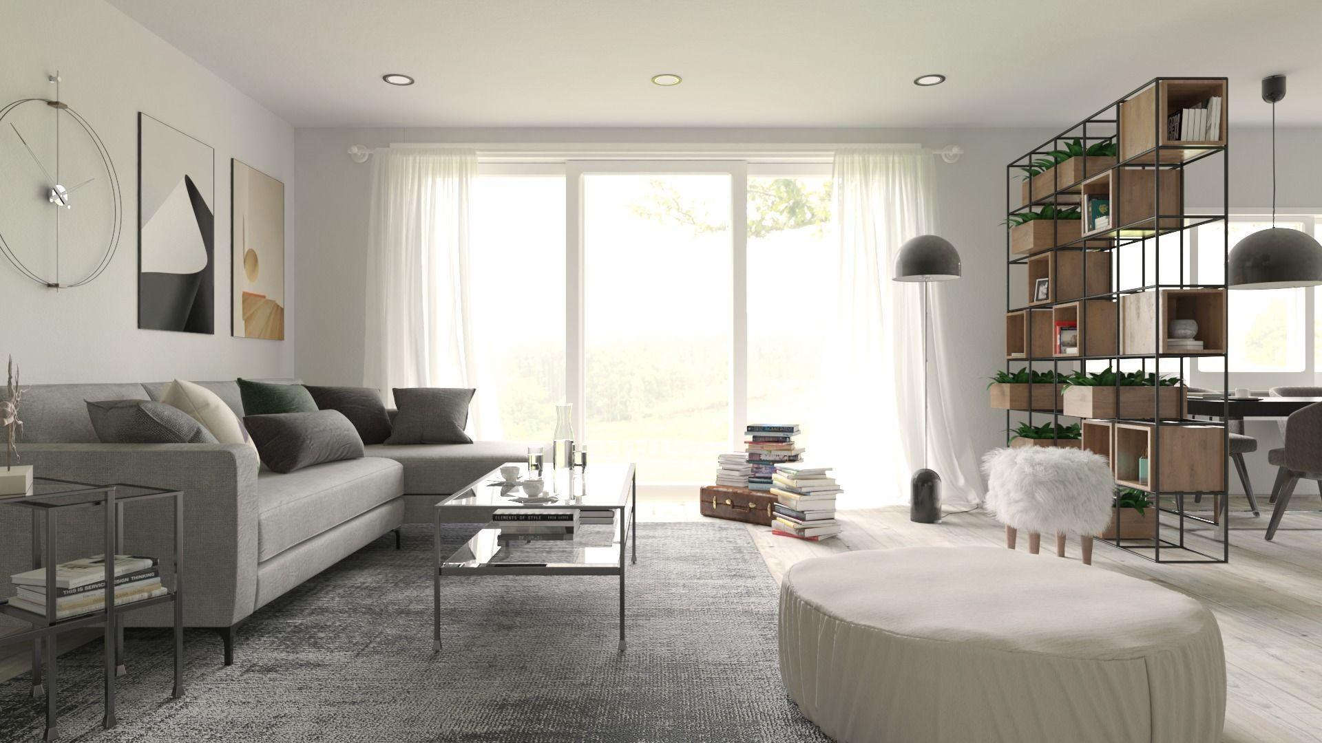 Interior  Scene Living Room for 3dsMax HDRI