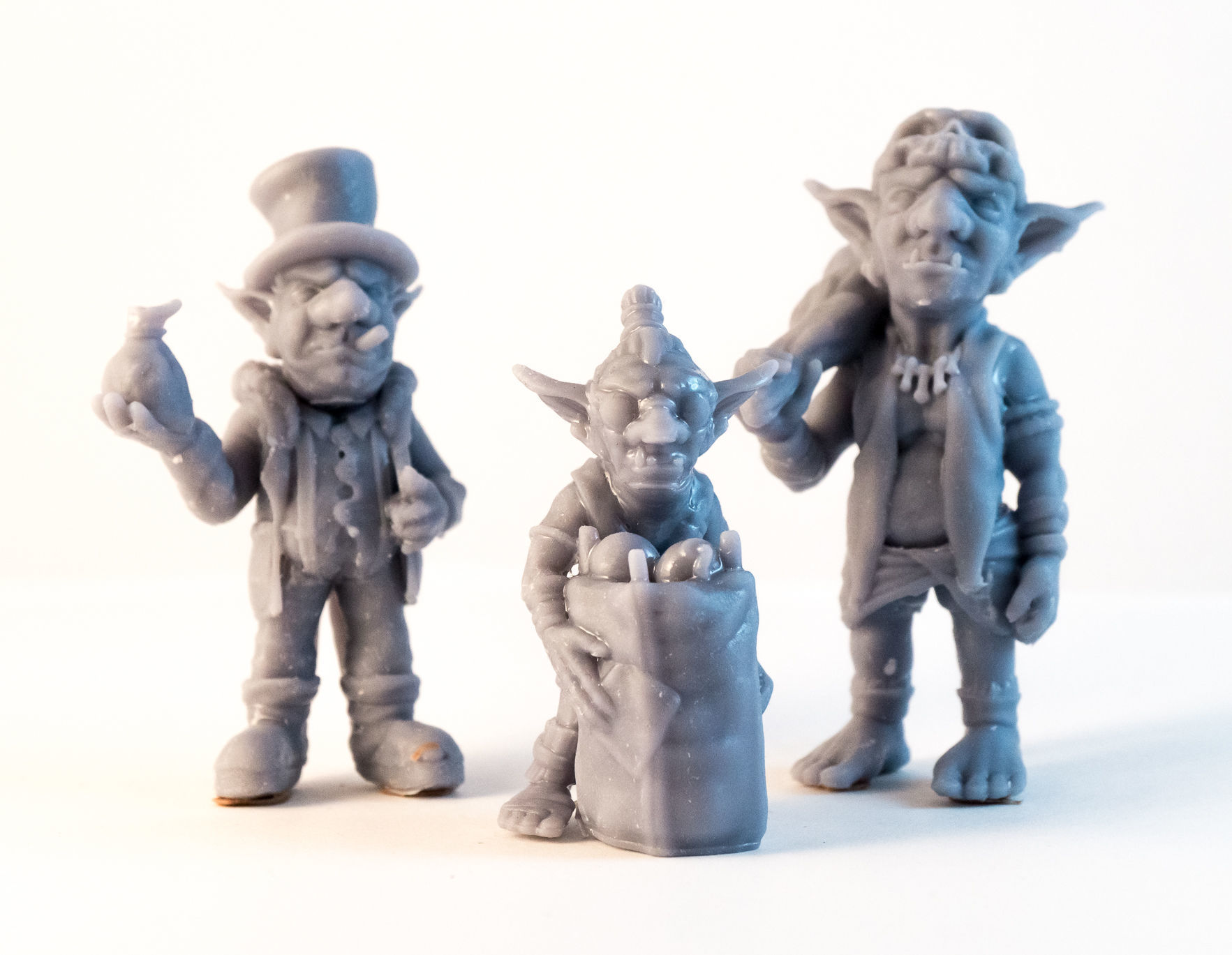 Team Goblin - 3D Printable Characters - 3 characters