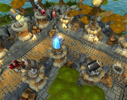 tower defense level kit game-ready 3d model