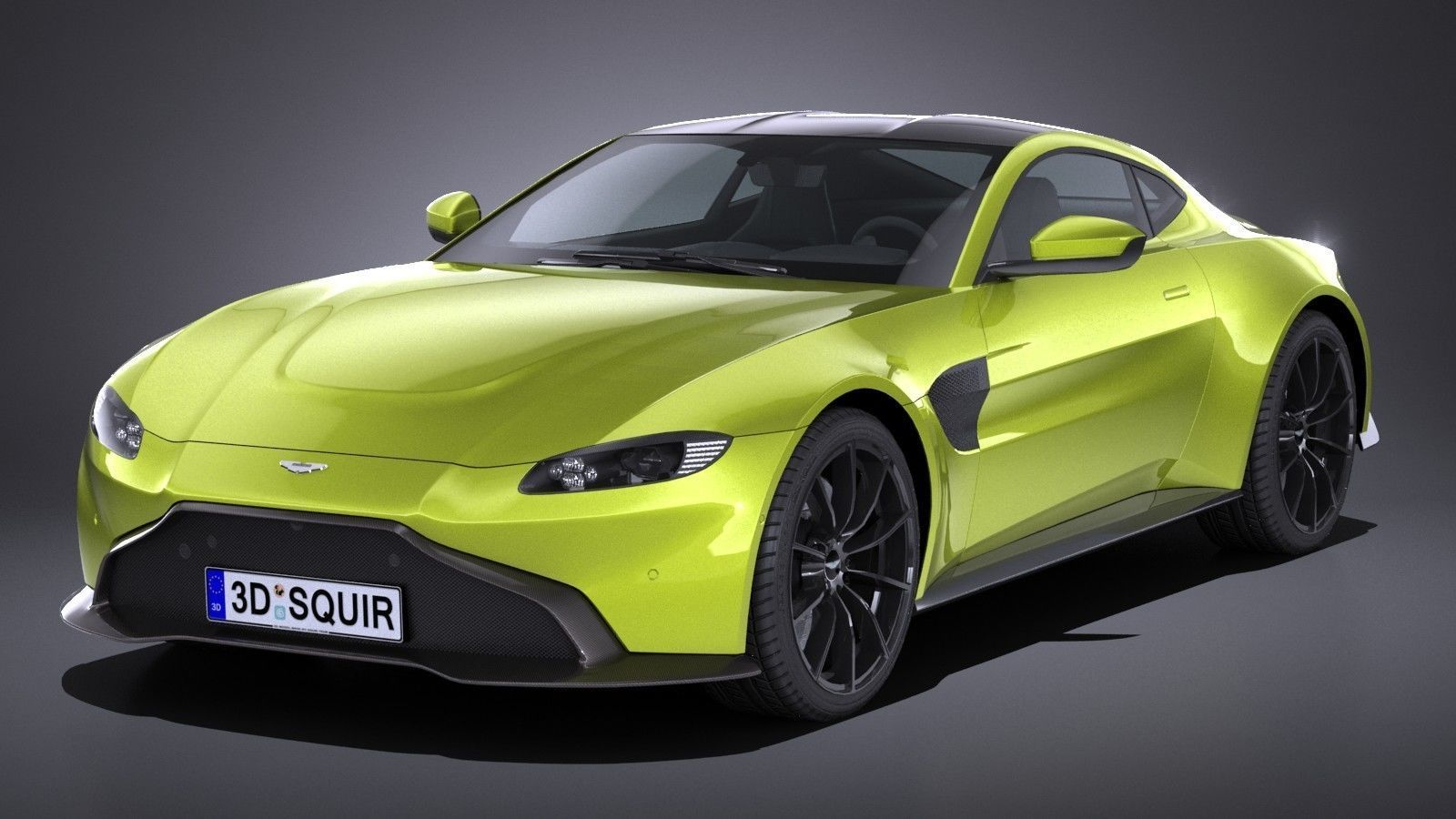 LowPoly Aston Martin Vantage 2019