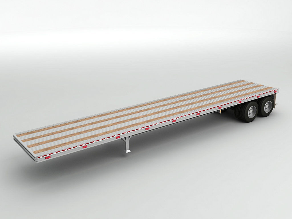Flatbed Trailer For Semi Truck