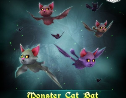 Monster Cat Bat 3D Model