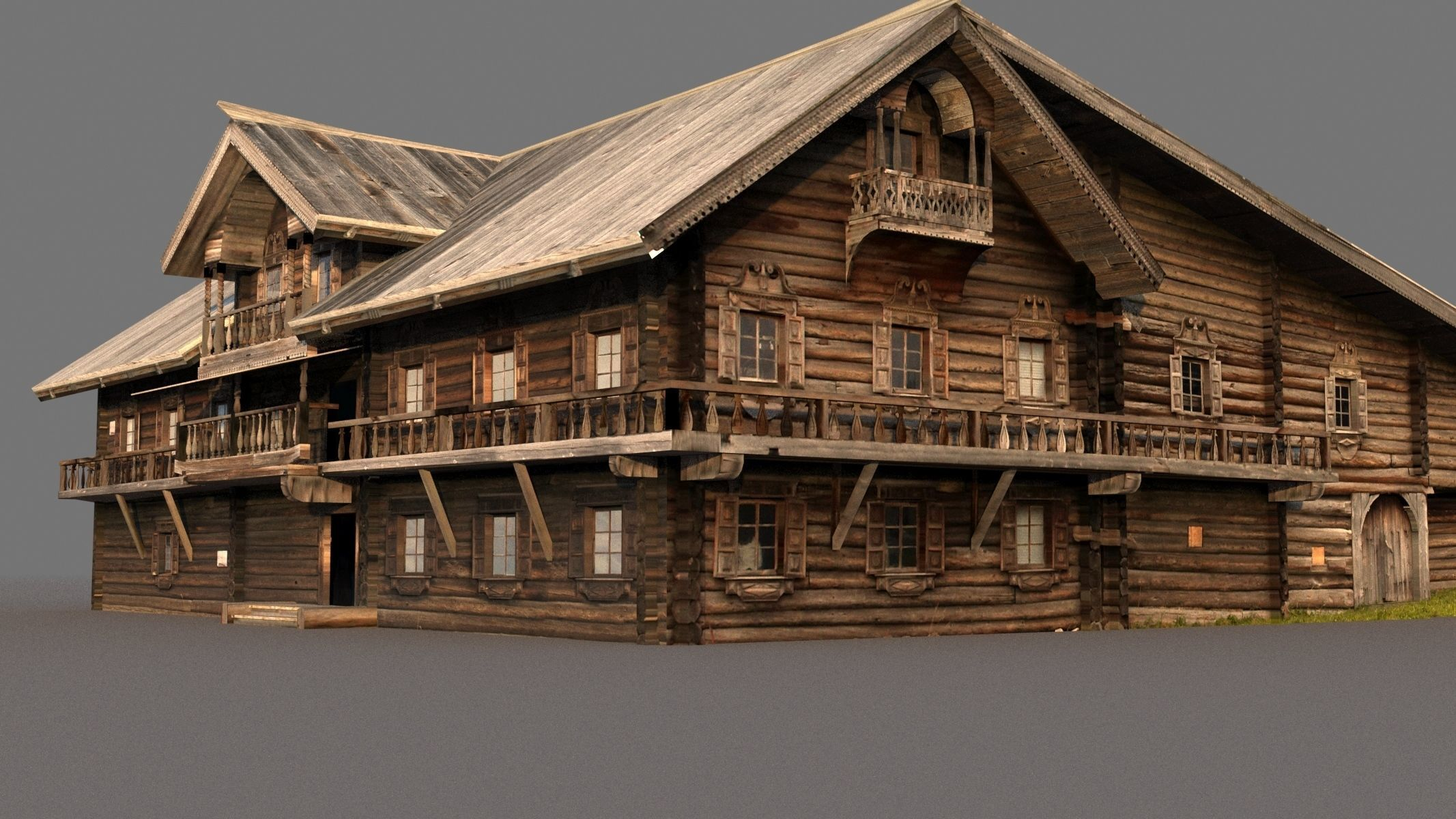 Russian wooden house on Kizhi island