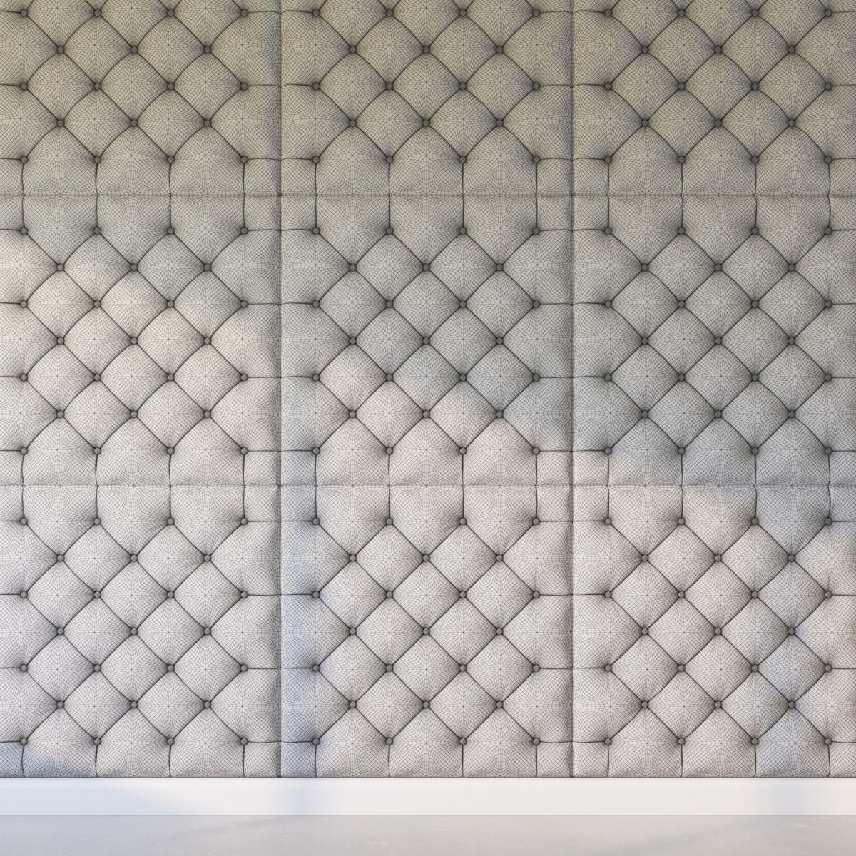 Attrayant ... Decorative Wall Panel Gray 3d Model Max Obj Fbx Mtl 4 ...