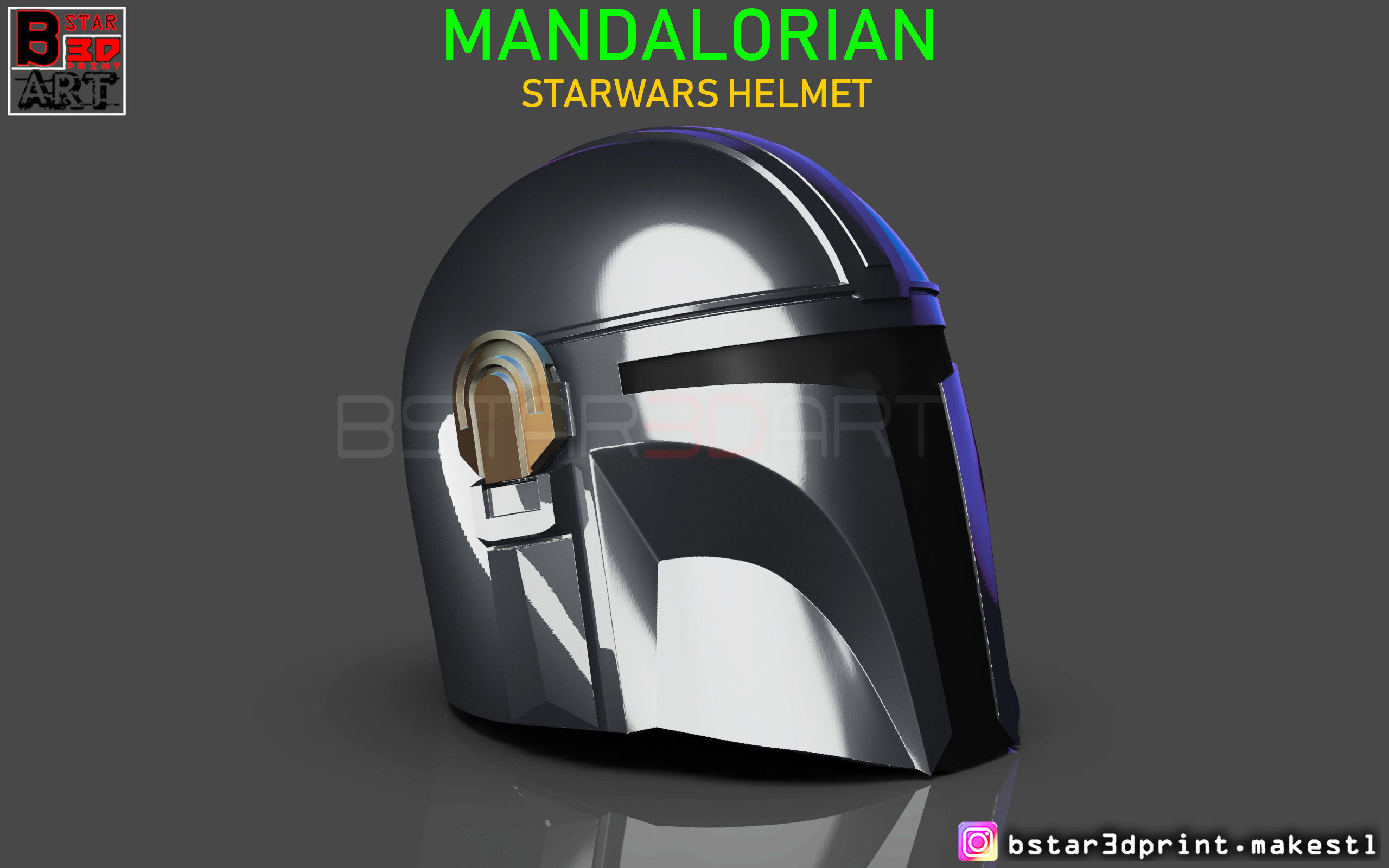 MANDALORIAN HELMET - STAR WARS movie 2019