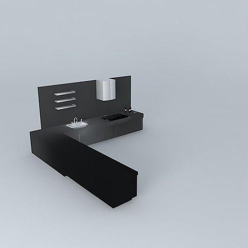 3d l shape kitchen cgtrader 3d l shape kitchen cgtrader