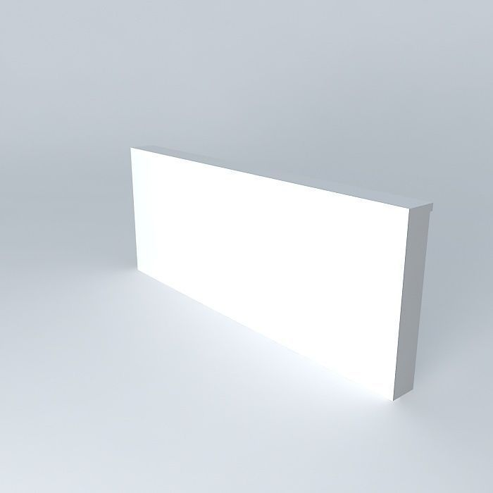 Lightbox Wall 3d Model Cgtrader