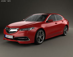 3D model Acura TLX Concept 2015