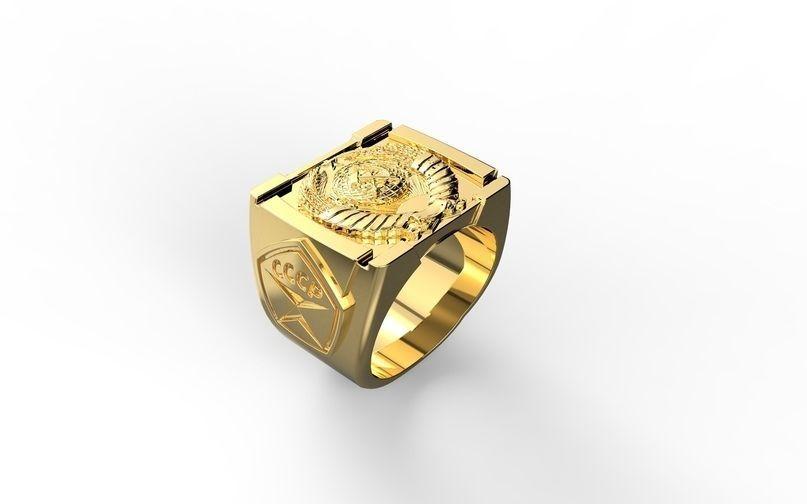 ring sssr and logo sssr 3D print model