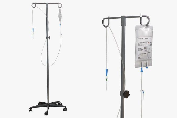 IV Blood Bag Dropper Stand