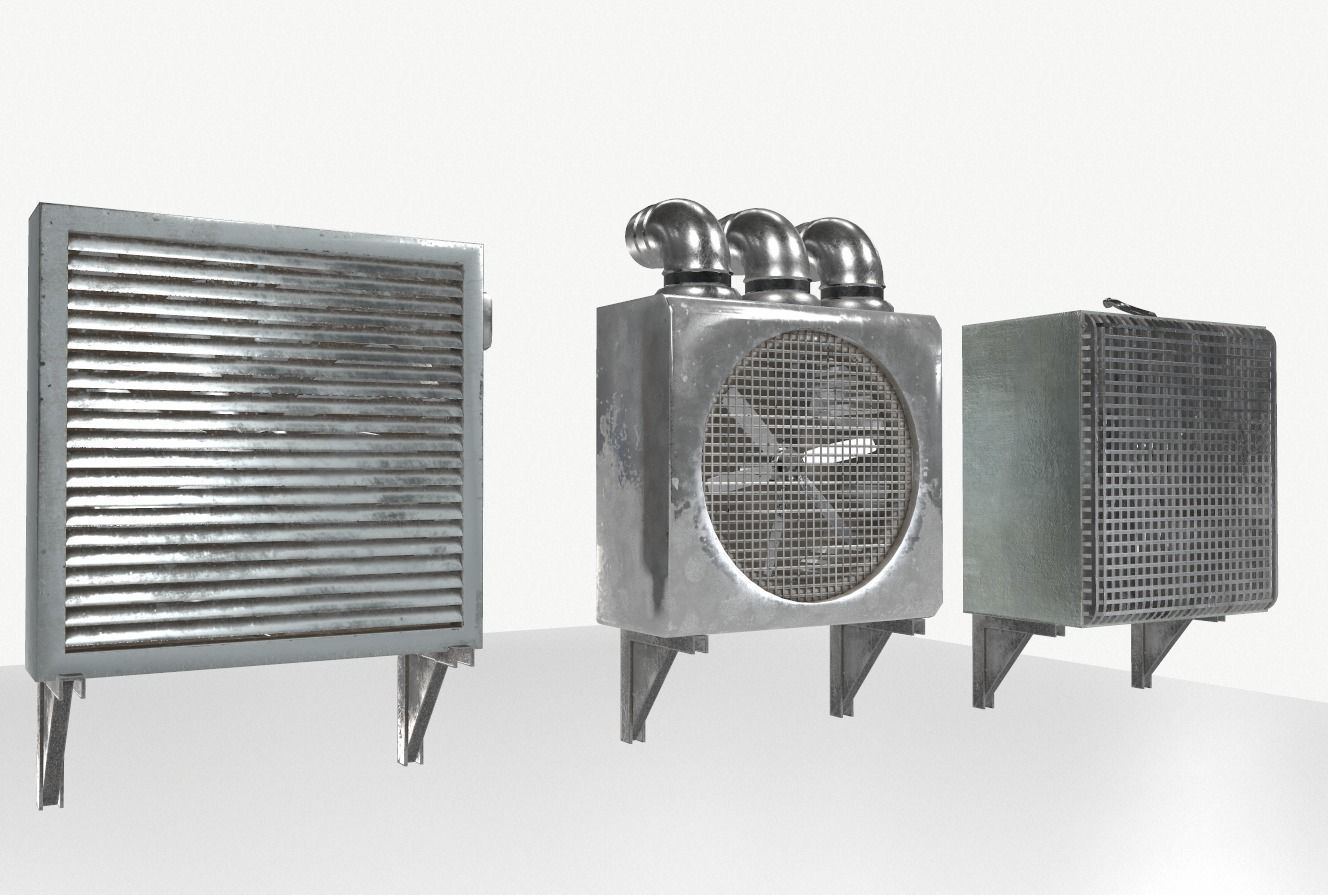 Industrial Exhaust Fans and vents pack