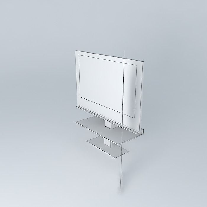 Furniture Tv Ozzio 3d Model Max Obj 3ds Fbx Stl Skp 5
