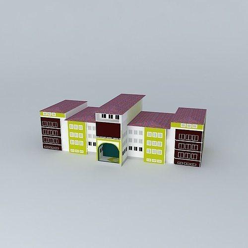 abdullah tayyar high school 3d model max obj mtl 3ds fbx stl skp 1