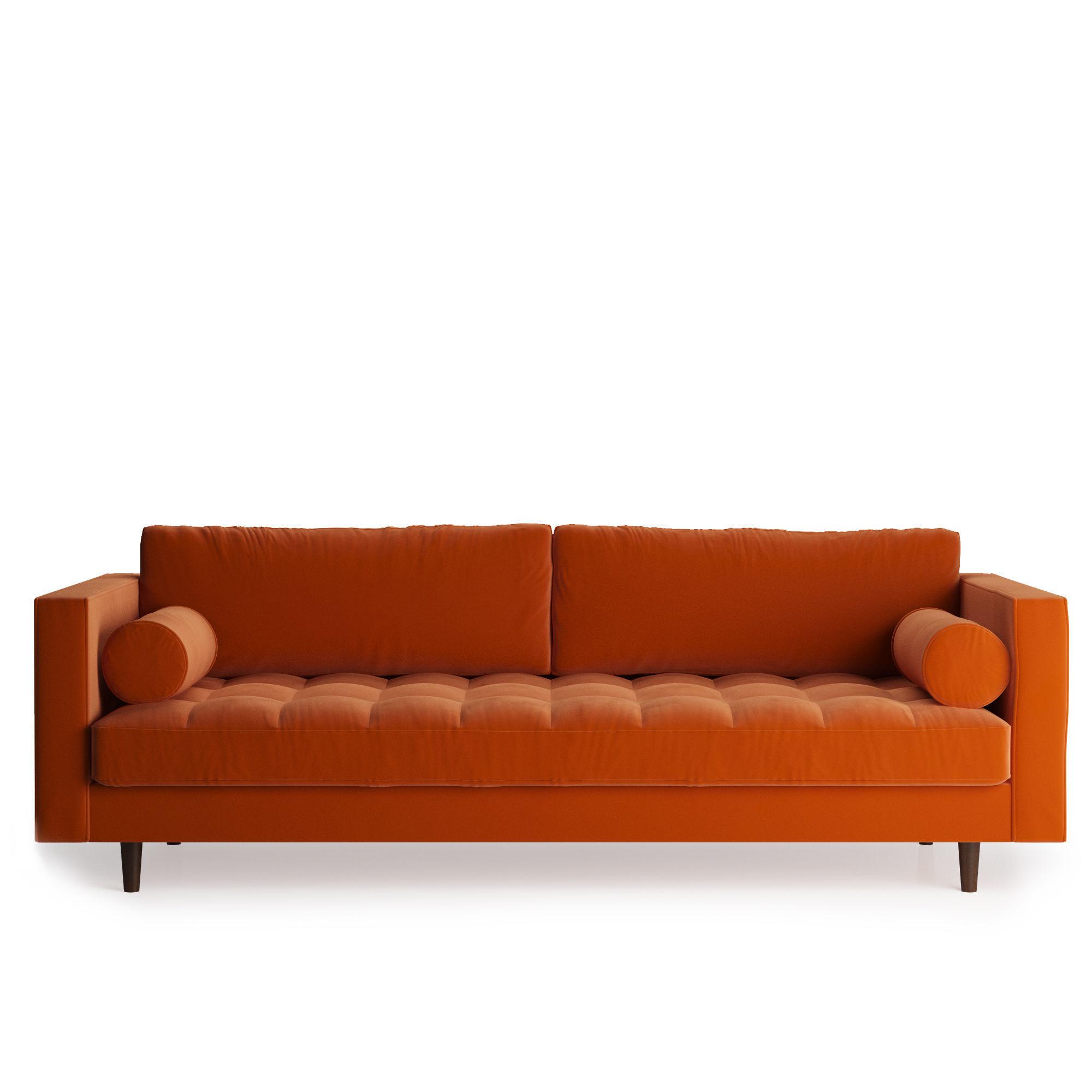 Scott 3 Seater Sofa Cotton Velvet