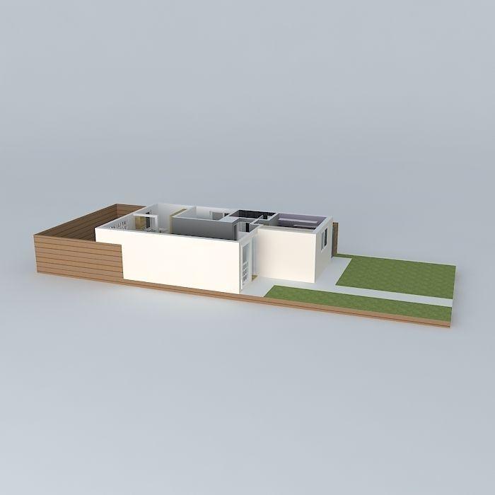 Wooden kitchen free 3d model max obj 3ds fbx stl skp for Kitchen set 3ds max