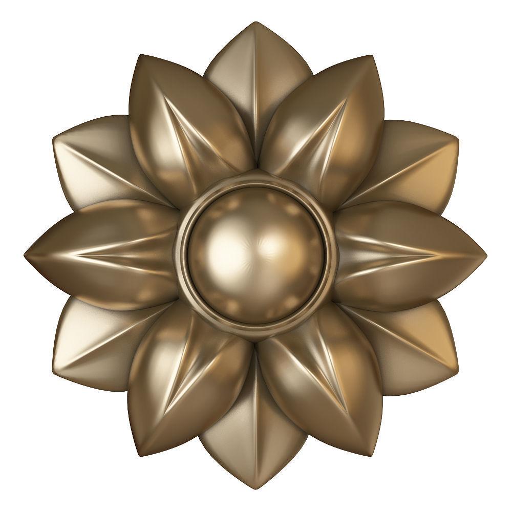 cnc flower rosette
