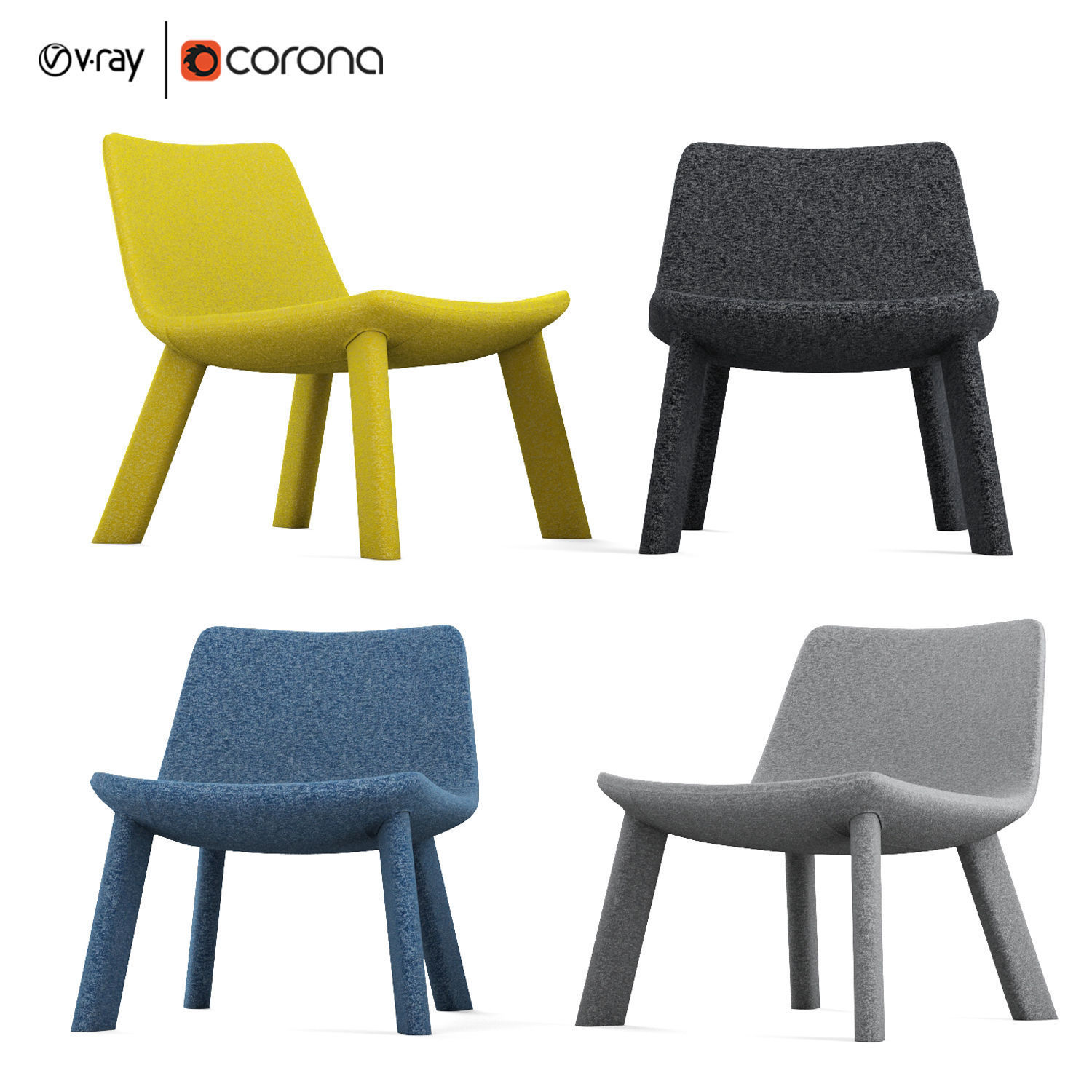 Amazing Neat Lounge Chair By Blu Dot 3D Model Ibusinesslaw Wood Chair Design Ideas Ibusinesslaworg
