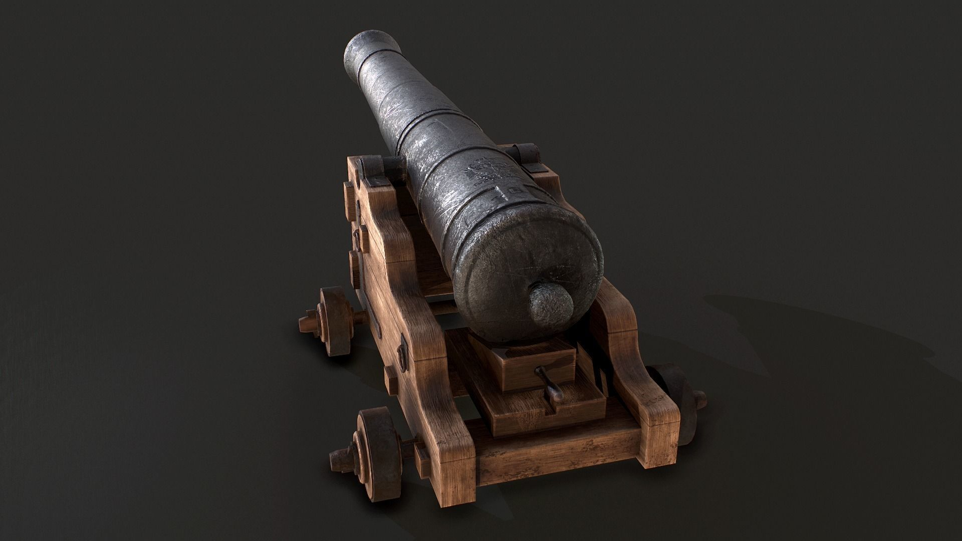 Old Iron Naval Cannon