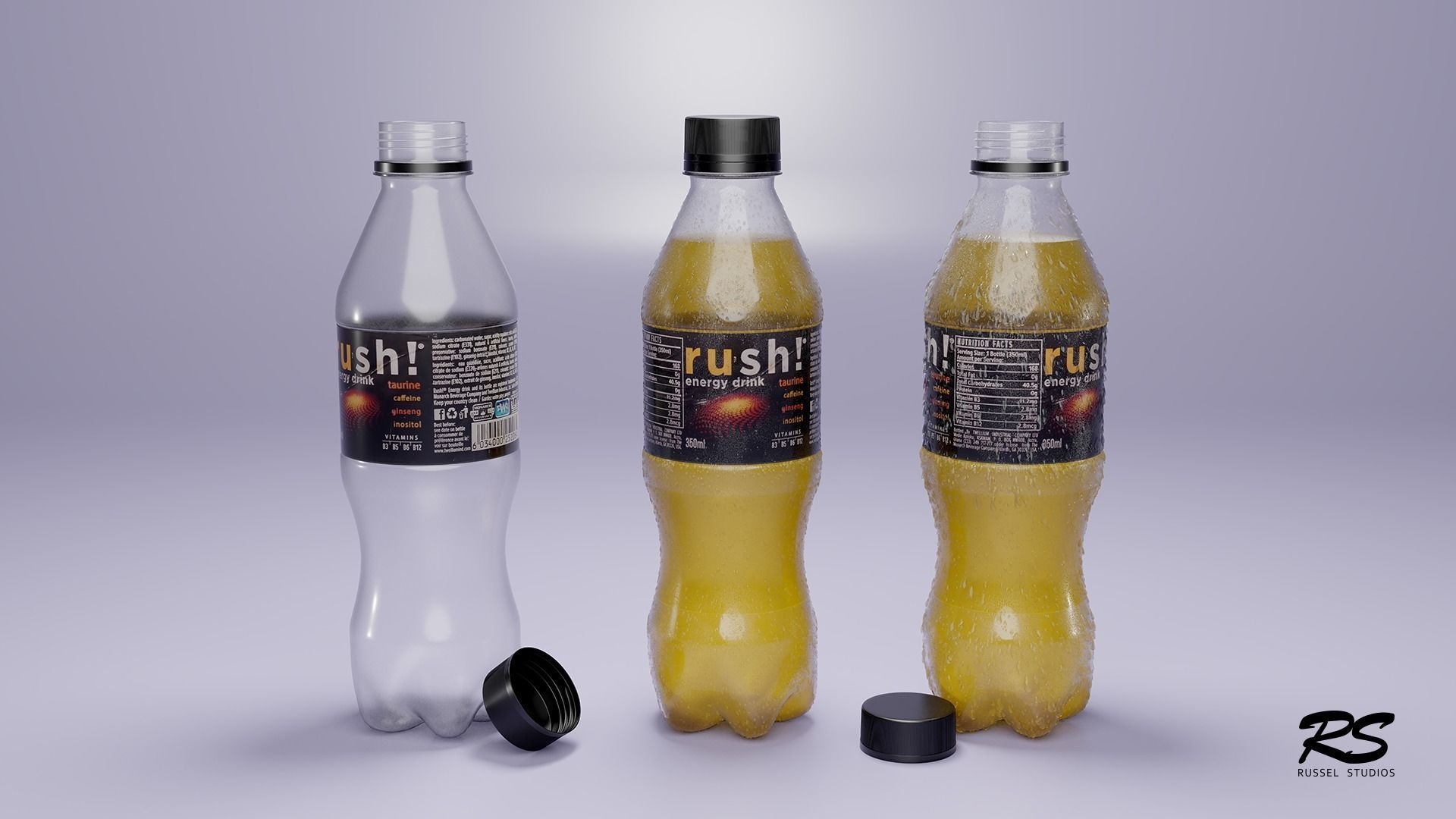 Plastic Bottle 3D Model - Low Poly