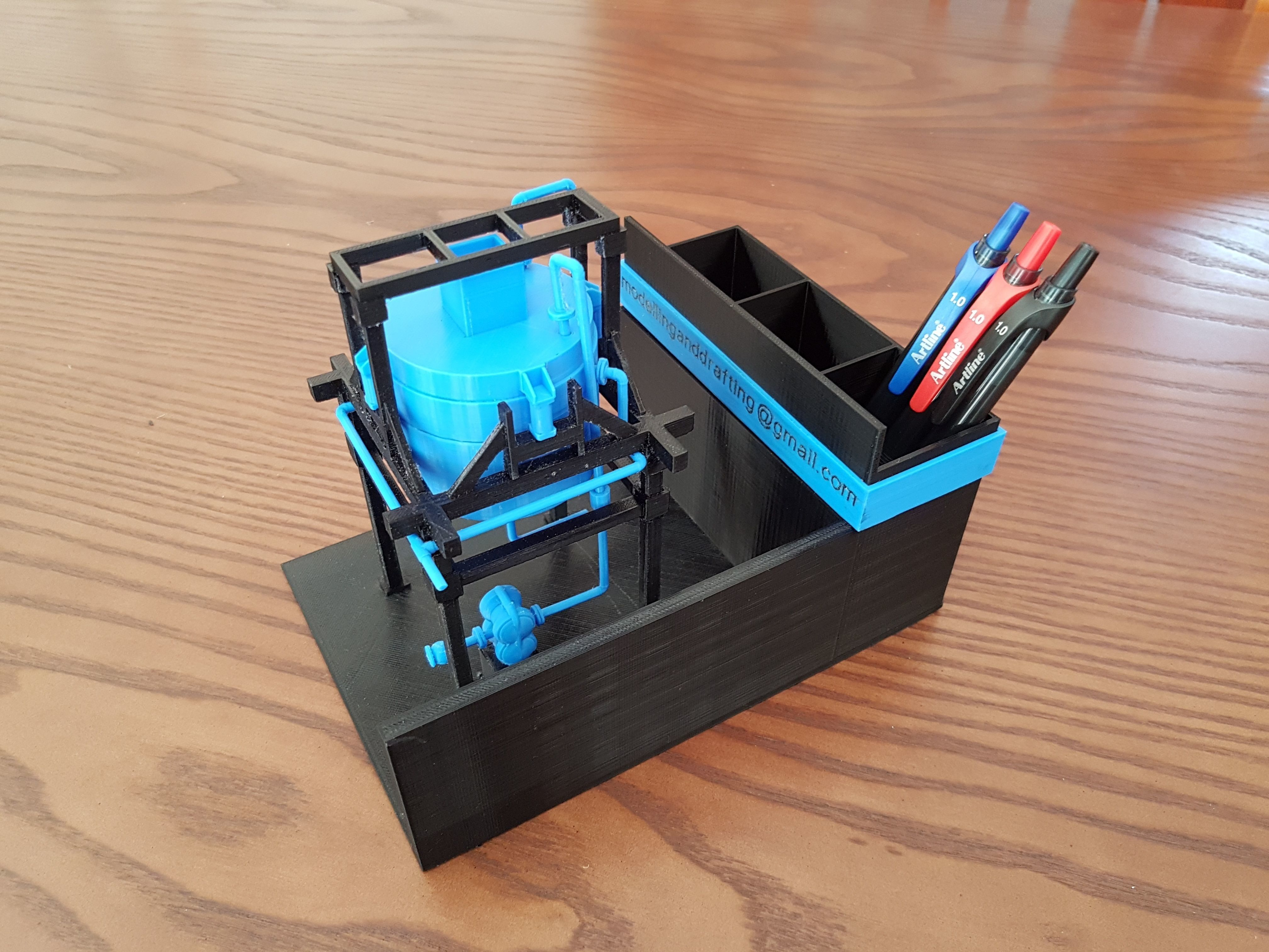 Mixing Tank  and Hopper  -Pen Holder