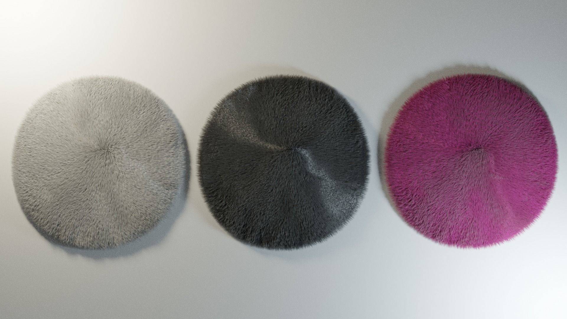 Furry Rounded Carpet