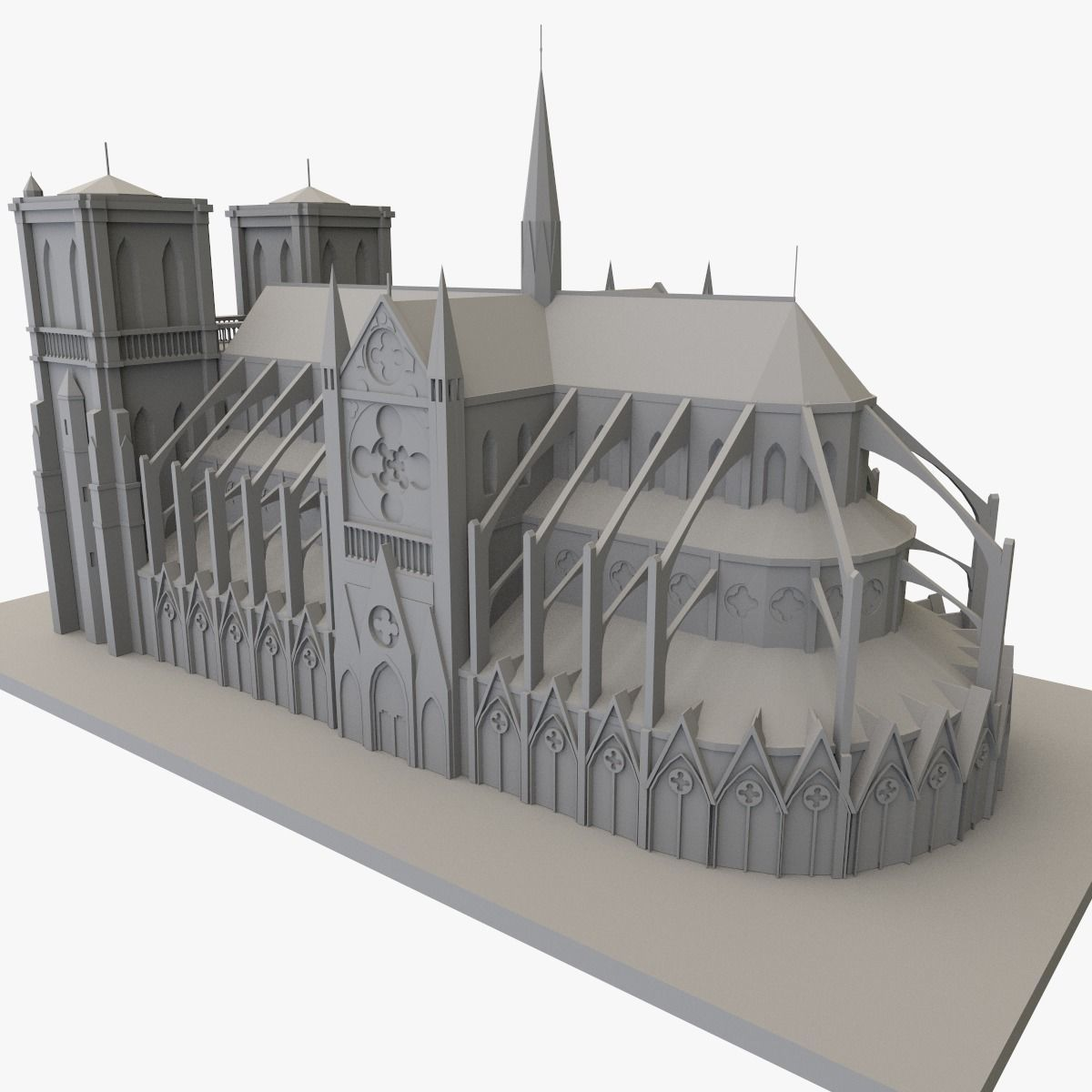 Notre Dame De Paris 3D printable
