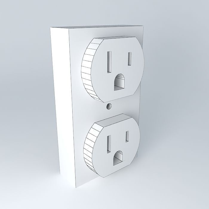 US 120 VAC Electrical Outlet 3D | CGTrader