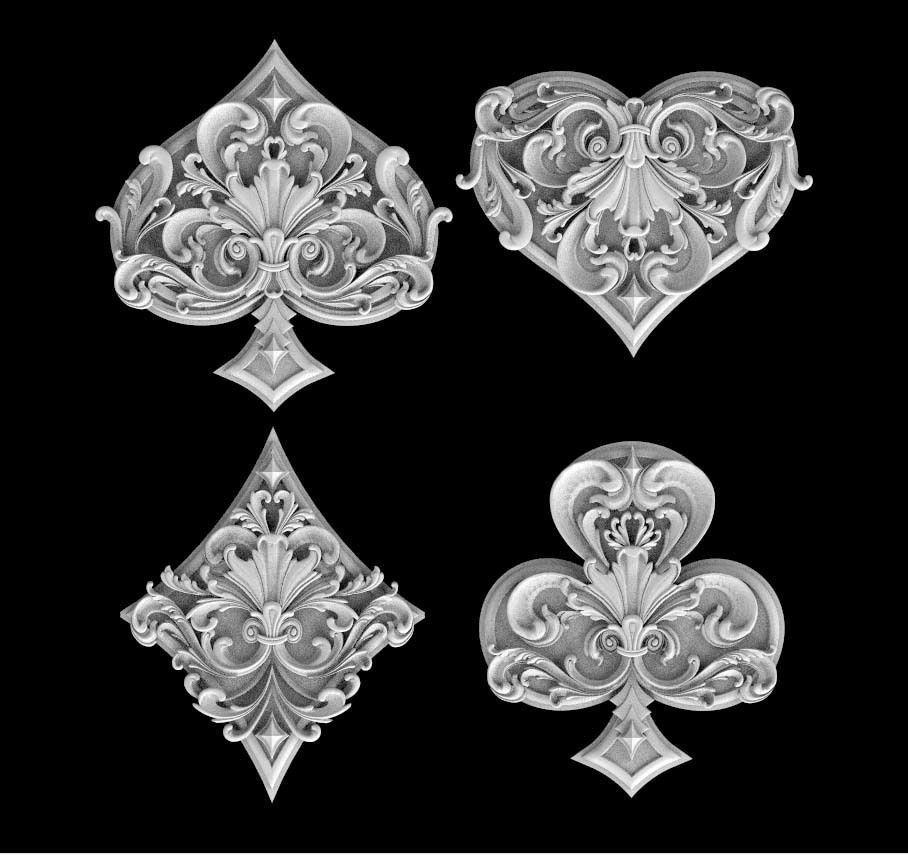 spades clubs hearts diamonds