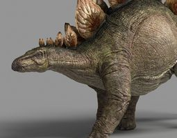 3d model stegosaurus astil animated
