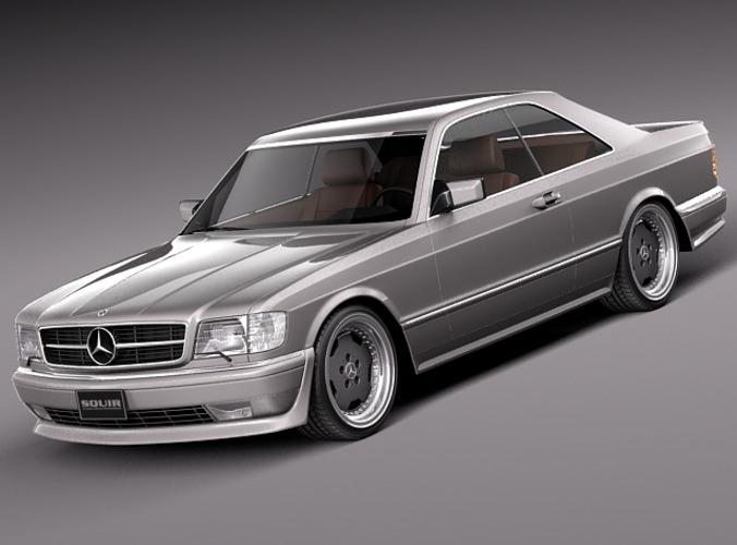Mercedes benz w126 560 sec amg 1991 3d model max obj 3ds for Mercedes benz 560 sec