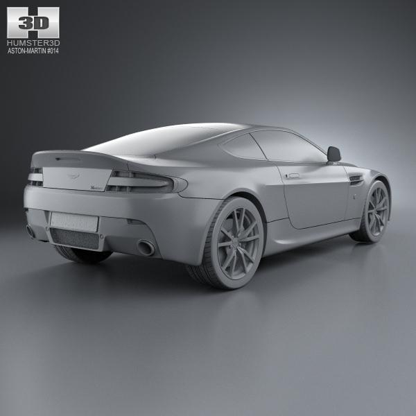 2012 Aston Martin Vantage Interior: Aston Martin V8 Vantage 2012 3D Model MAX OBJ 3DS FBX C4D