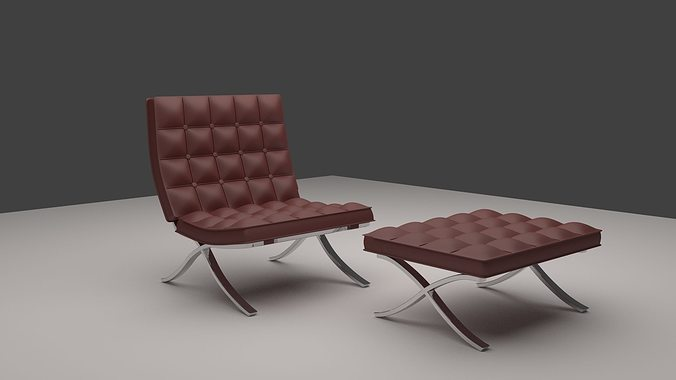 harm chair chesterfield 3d model obj 1