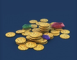 3D Coins and gems