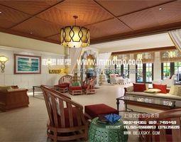 Luxury interior design living room bedroom toilet Kitchen  69 3D Model