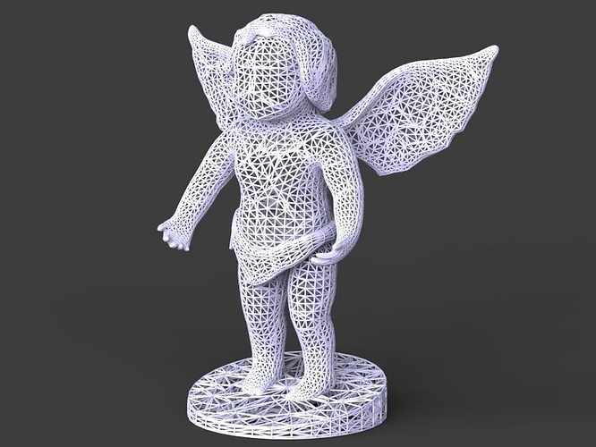 voronoi angel 3d model obj stl 1