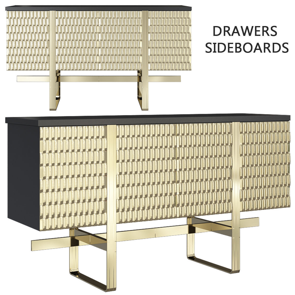 Drawers - Sideboards low poly 3d model