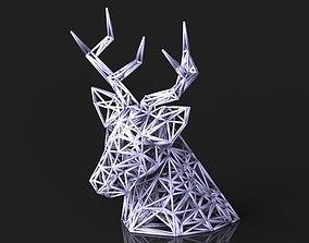 VORONOI DEER HEAD 3D print model