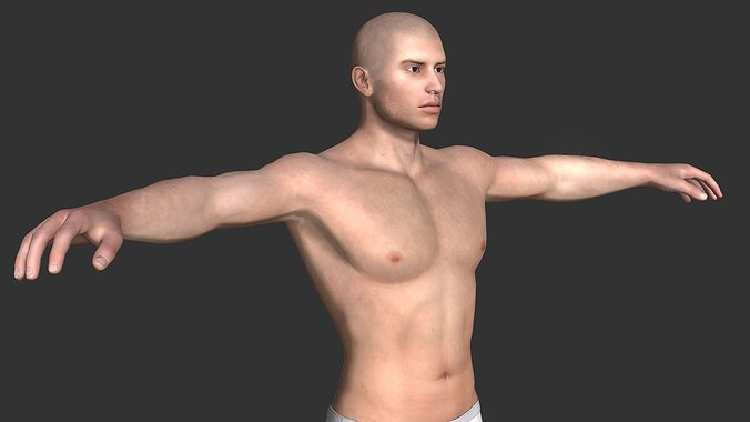 generic male base 3d model obj mtl fbx 1