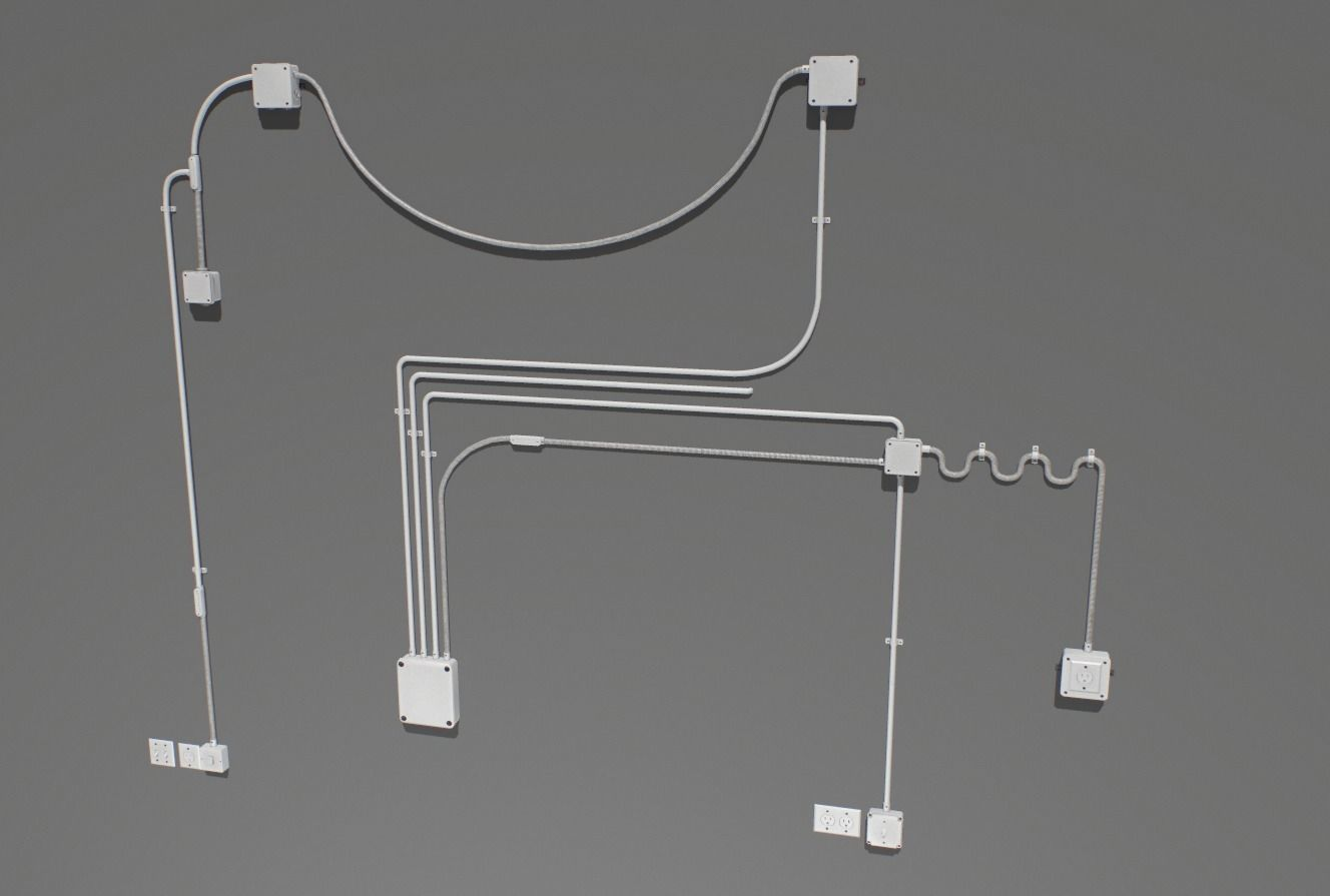 Electric wall wires set