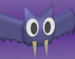 3d asset rigged cartoon bat