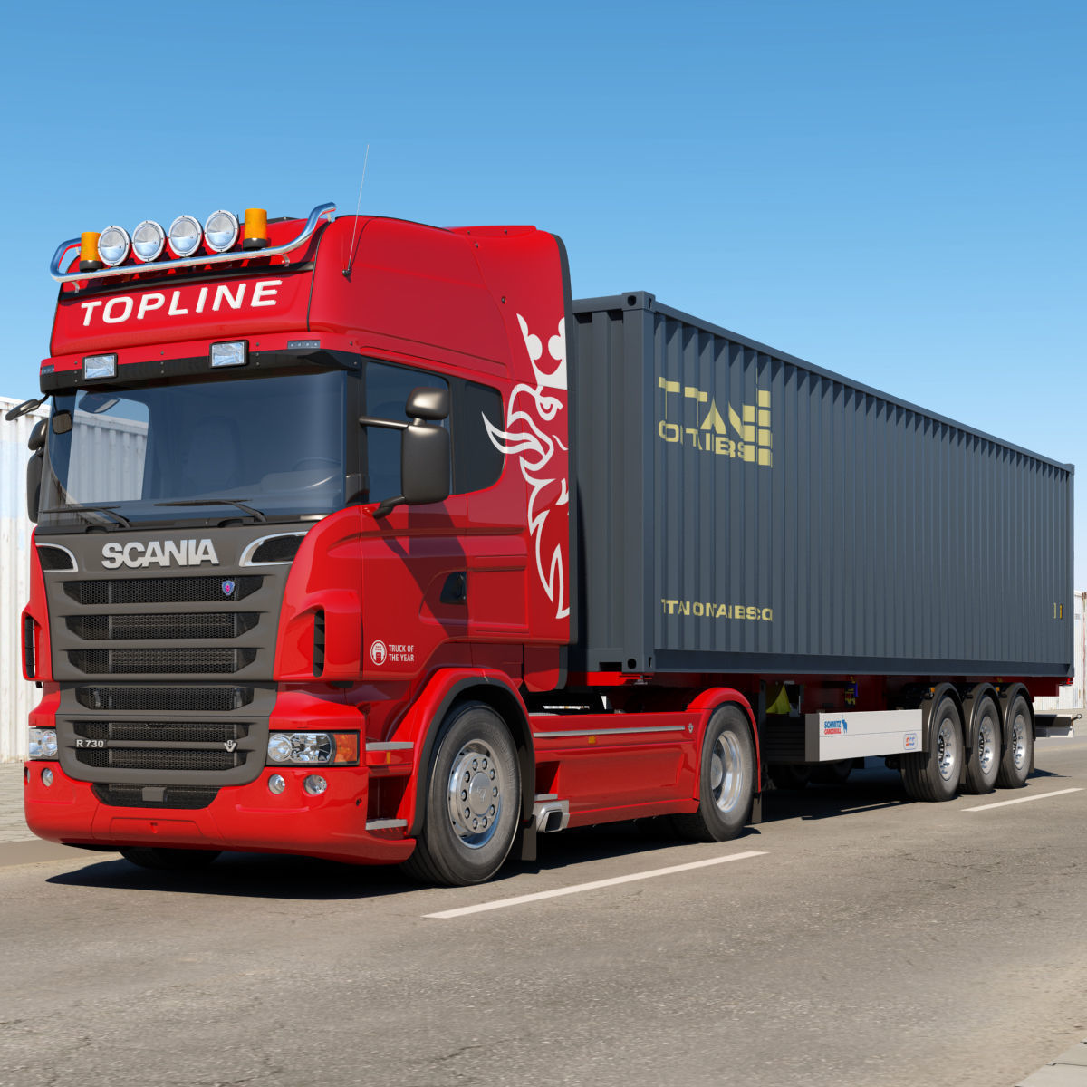Scania R 730 Container