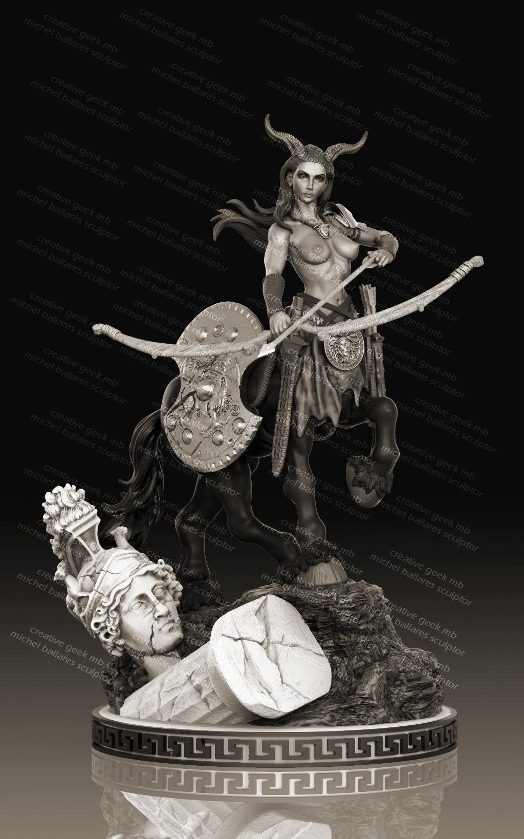 centaur archer  miniature by creative geek MB 3D print model