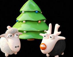 3d model animated christmas tree