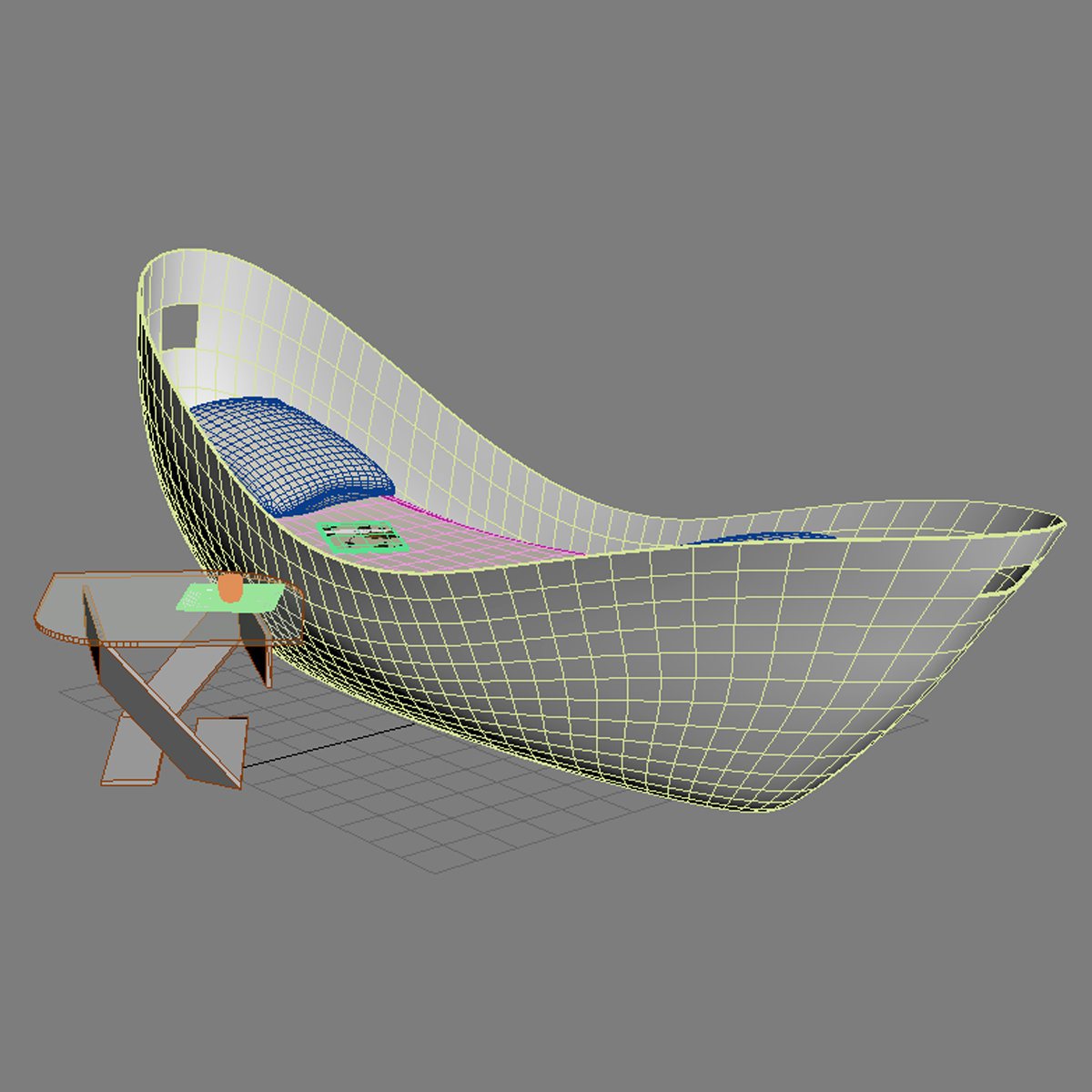 Chaise lounge gefeva 3d model max obj 3ds fbx mtl for Chaise modele