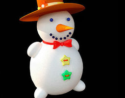 3D Funny snowman