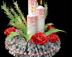 3d model christmas candle  holder