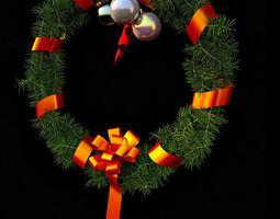 decorative christmas wreath 3d model
