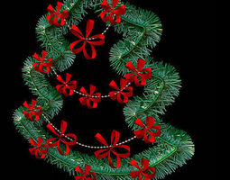 decor christmas tree 3d model
