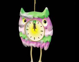 3D Owl clock